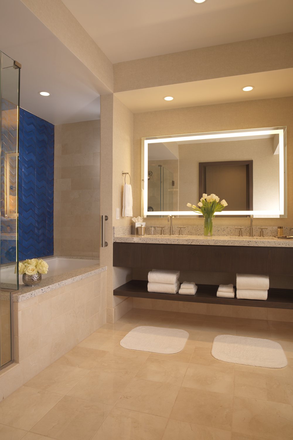Our luxurious guest bathrooms are inviting, comfortable and stocked with all the amenities.