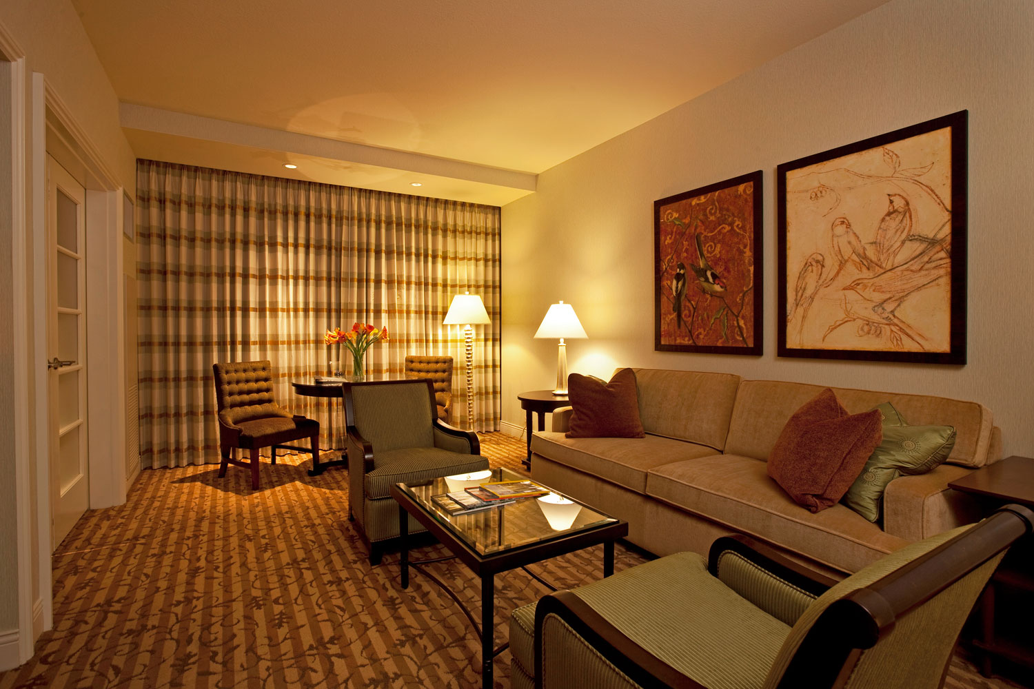 Stretch out in the comfort of your own living area in our Provence Suite.
