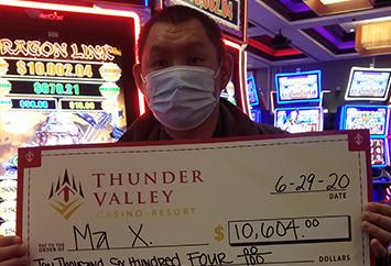 Thunder Valley Casino Latest Winners